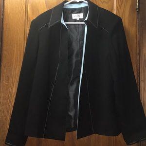 Studio I Women's Black Open Front Blazer